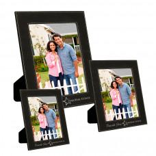 Leatherette Picture Frame Sample Set (Black/Silver)