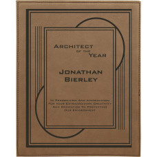 "Leatherette Plaque in Dark Brown (10 1/2"" x 13"")"