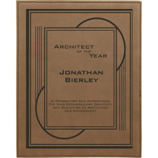 "Leatherette Plaque in Dark Brown (9"" x 12"")"