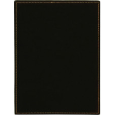 "Leatherette Plaque in Black/Gold (9"" x 12"")"