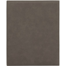 """Leatherette Plaque in Gray (10 1/2"""" x 13"""")"""