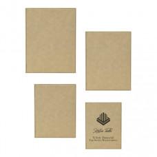 Leatherette Plaque Sample Set in Light Brown