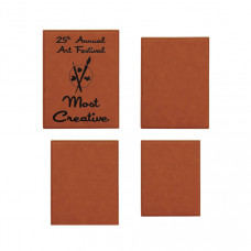 Leatherette Plaque Sample Set in Rawhide