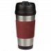 Leatherette Stainless Steel Travel Mug in Rose (16 oz.)