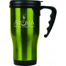 Travel Mugs in Gloss Green (14 oz.)