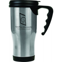 Travel Mugs in Silver (14 oz.)