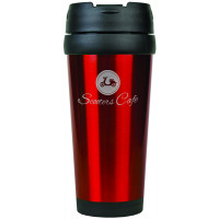 Travel Mugs in Gloss Red (16 oz.)