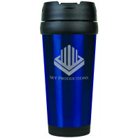 Travel Mugs in Gloss Blue (16 oz.)