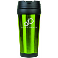 Travel Mugs in Gloss Green (16 oz.)