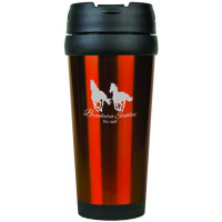 Travel Mugs in Gloss Orange (16 oz.)