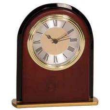 """Mahogany Finish Arch Clock (6 1/2"""")"""