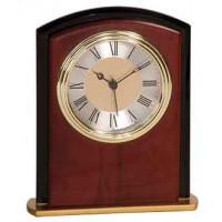 """Mahogany Finish Square Arch Clock (6 1/2"""")"""