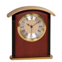 """Mahogany Finish Gold Top Clock (6 1/2"""")"""