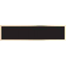 "Black/Gold Brass Name Plate for 8 1/2"" Desk Wedge (7 1/2"" x 1 3/4"")"