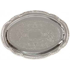 "Chrome Plated Oval Tray (6 1/2""x 9 1/2"")"