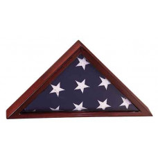 "Rosewood Finish Piano Flag Cases (8 1/4"" x 16 1/4"")"