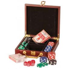 "Poker Set in Rosenwood (8 1/4"" x 7 1/2"" x 2"")"