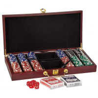 "Poker Set in Rosenwood (15 1/4"" x 7 1/2"" x 2"")"