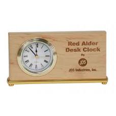 "Red Alder Horizontal Desk Clock (7 1/2"" x 4"")"