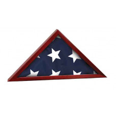 """Rosewood Finish Flag Cases with Base Attached (16 1/4"""" x 8 1/4"""")"""