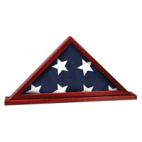 "Rosewood Finish Flag Cases (16 1/4"" x 8 1/4"")"