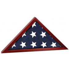 "Rosewood Finish Flag Cases (25 1/2"" x 12 3/4"")"