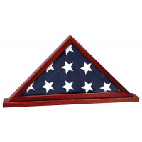 """Rosewood Finish Flag Cases with Base Attached (25 1/2"""" x 12 3/4"""")"""