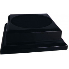 "Black Royal Piano Finish Pedestal Base (9"" x 9"")"