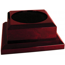 "Rosewood Royal Piano Finish Pedestal Base (7"" x 7"")"