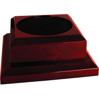 "Rosewood Royal Piano Finish Pedestal Base (8"" x 8"")"