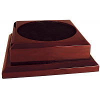 "Rosewood Royal Piano Finish Pedestal Base (9"" x 9"")"