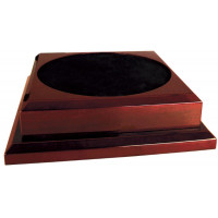"Rosewood Royal Piano Finish Pedestal Base (11"" x 11"")"