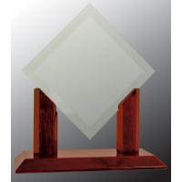 "Royal Diamond Jade Glass with Rosewood Piano Finish Base (10"")"
