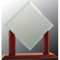 "Royal Diamond Jade Glass with Rosewood Piano Finish Base (12 3/4"")"