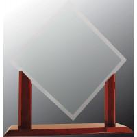 "Royal Diamond Jade Glass with Rosewood Piano Finish Base (18 1/2"")"