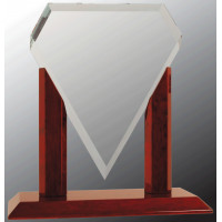 """Royal Marquis Diamond Clear Glass with Rosewood Piano Finish Base (10 1/4"""")"""