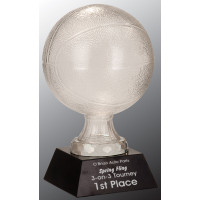 """Glass Basketball with Black Marble Base (13"""")"""