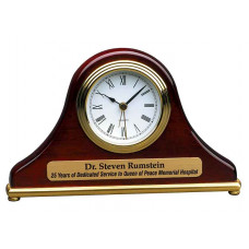"Rosewood Piano Finish Mantel Desk Clock (7 1/2"" x 4 1/2"")"