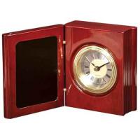 """Rosewood Piano Finish Book Clock (5 3/8"""")"""
