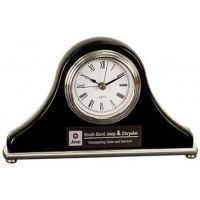 "Black Piano Finish Mantel Desk Clock (7 1/2"" x 4 1/2"")"