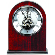 "Rosewood Piano Finish Arch Clock (6 1/4"" x 5"")"