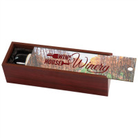 Single Wine Presentation Box in Rosenwood with Sublimatable Lid