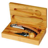 2 Piece Wine Tool Set in Bamboo