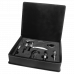 Leatherette Wine Tool Gift Set in Black/Silver (5-Piece)