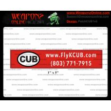 """Custom CUB 1"""" x 5"""" Patch"""