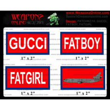 Custom FATBOY, FATGIRL, GUCCI, KC10 Morale Patches