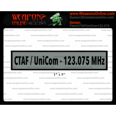 Custom CTAF UniCom 123.075 MHz Patch