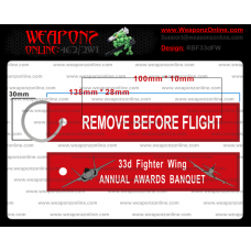 Custom 33d Fighter Wing Annual Awards Banquet Remove Before Flight ®