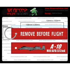 Custom A-10 Hill AFB 572nd Remove Before Flight ®