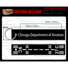 Custom Chicago Department of Aviation Remove Before Flight